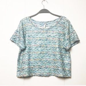 Free People Rainbow Wave Boxy Cropped Top